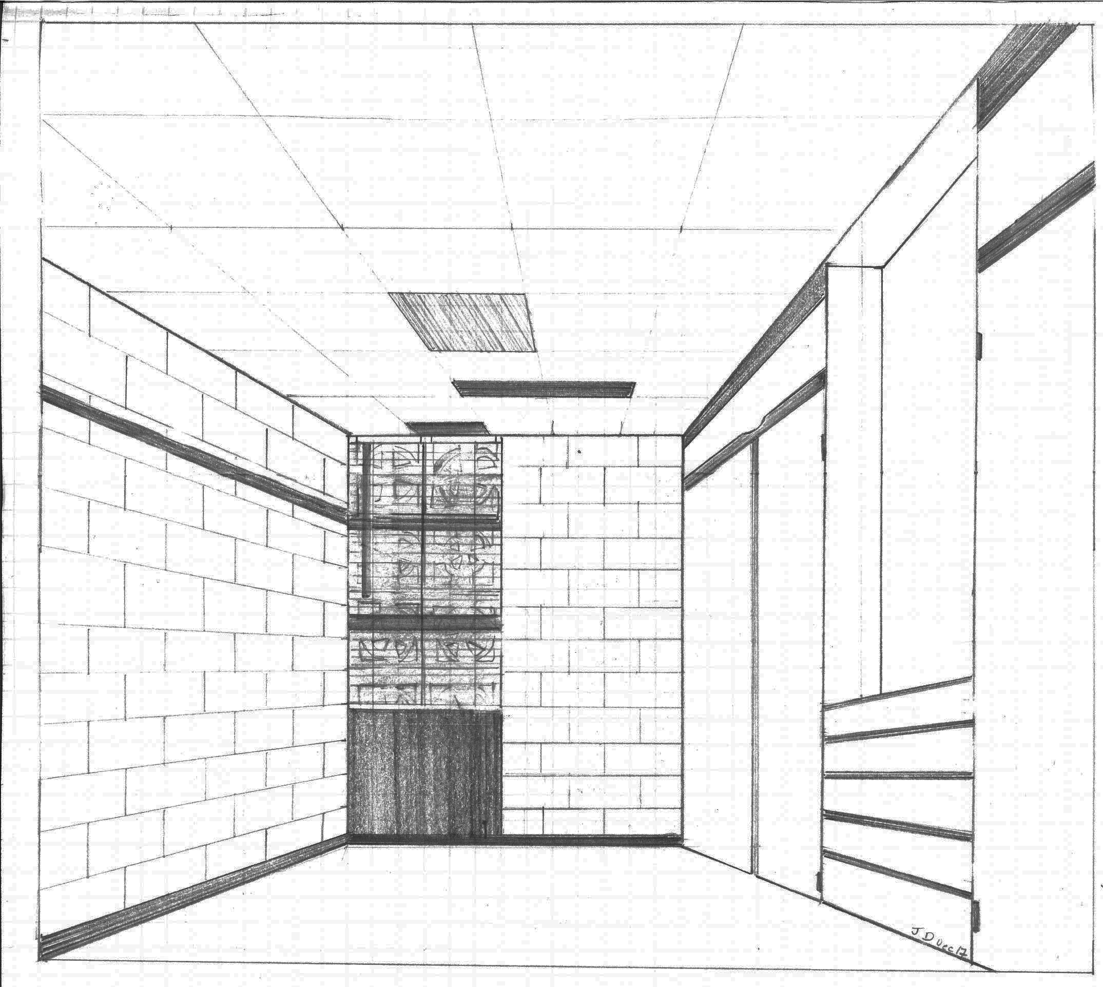 Diagram of an Empty Dormroom